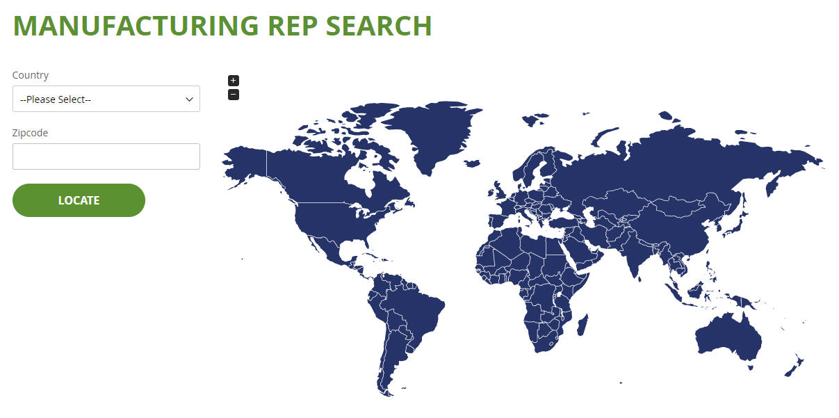 Coming Soon: Find Your Manufacturer Representative